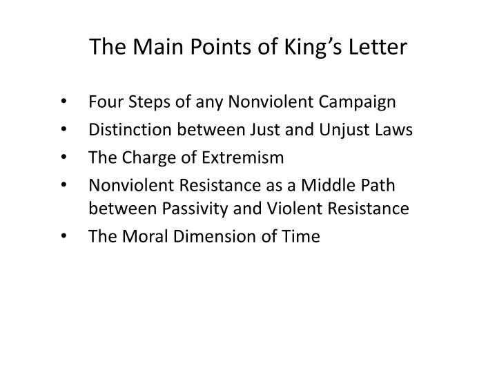 The Main Points of King's Letter