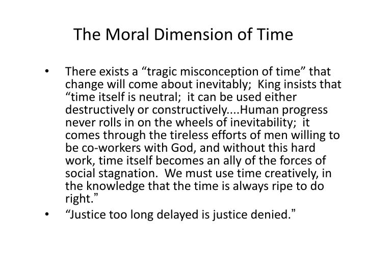 The Moral Dimension of Time