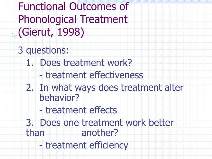 Functional Outcomes of