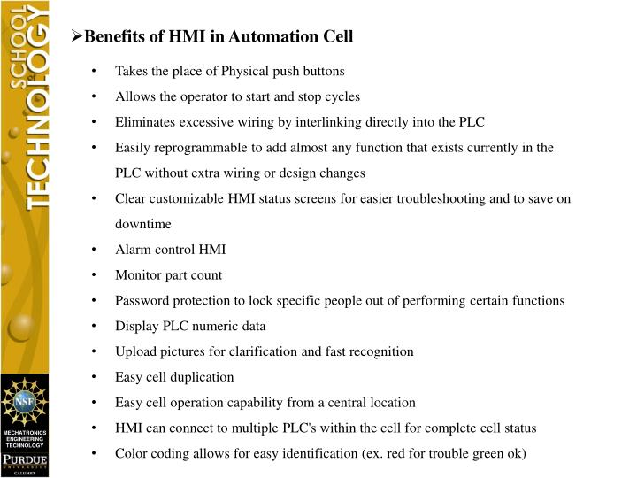 Benefits of HMI in Automation Cell