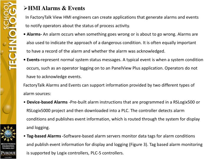 HMI Alarms & Events