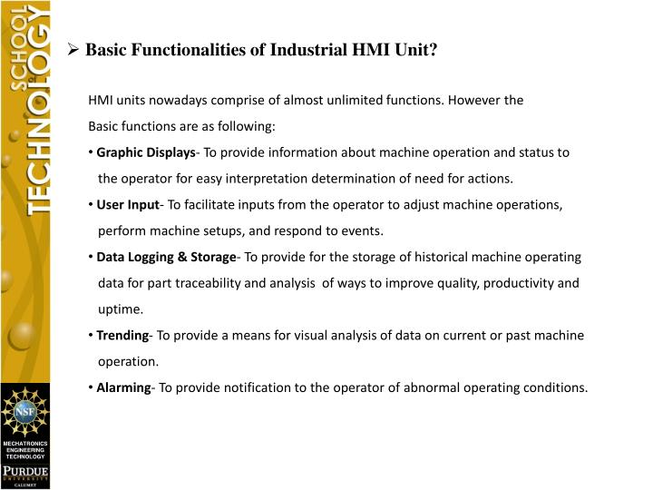 Basic Functionalities of