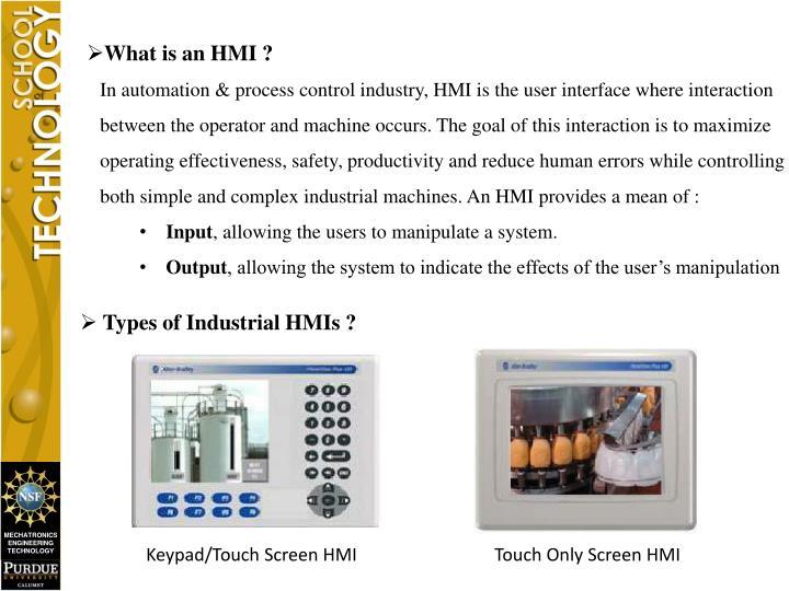 What is an HMI ?