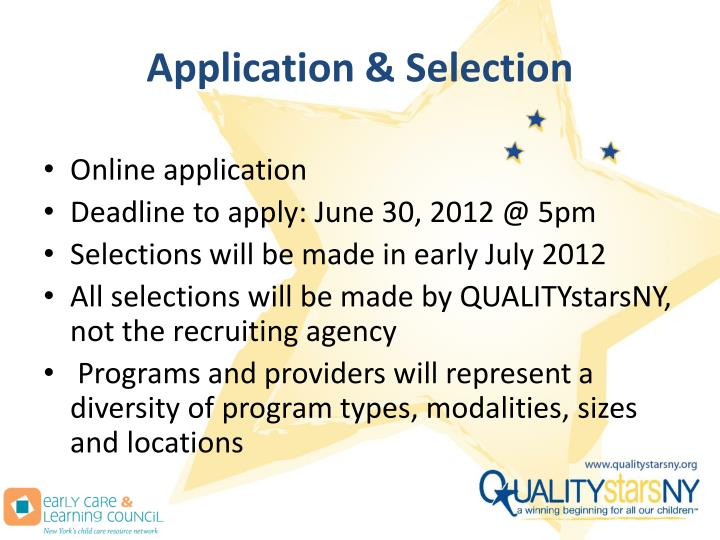 Application & Selection