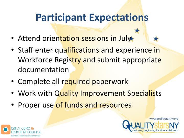 Participant Expectations
