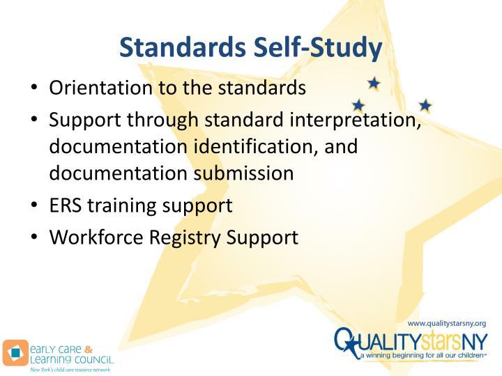Standards Self-Study