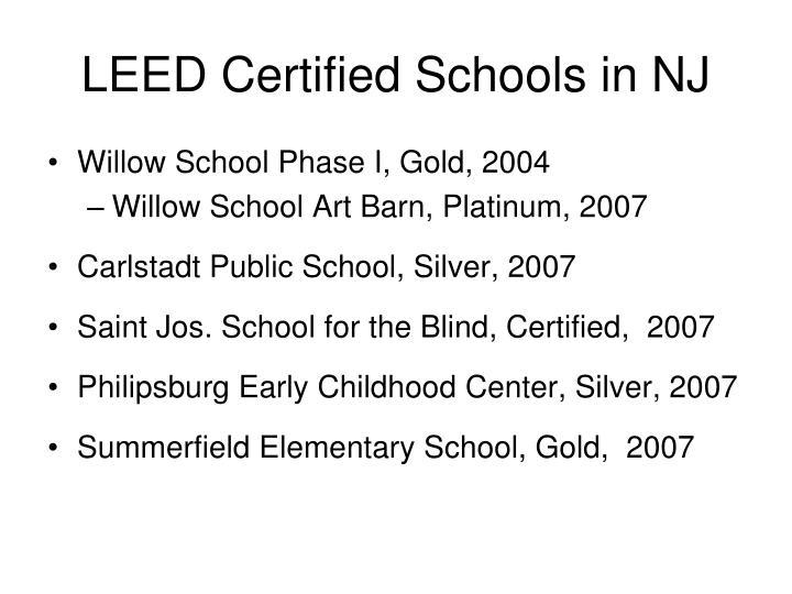 LEED Certified Schools in NJ