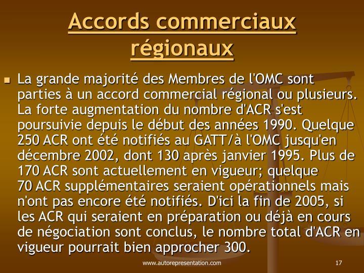 Accords commerciaux régionaux