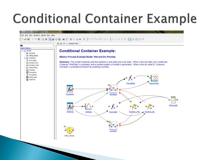 Conditional Container Example