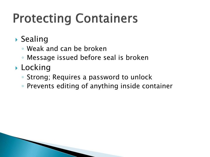 Protecting Containers