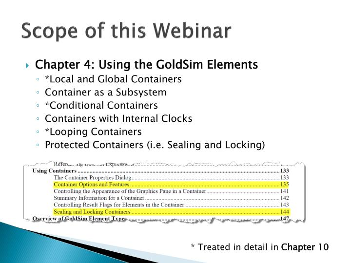 Scope of this Webinar