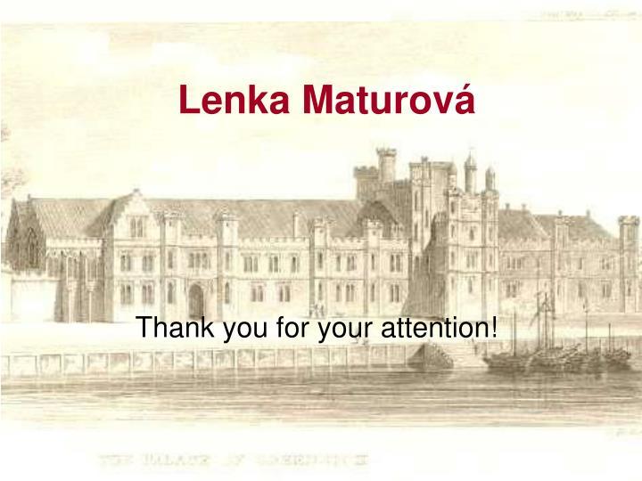 Lenka Maturová