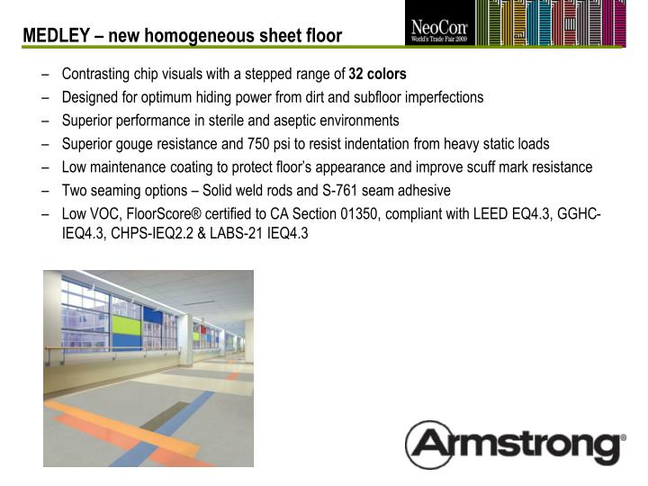 MEDLEY – new homogeneous sheet floor