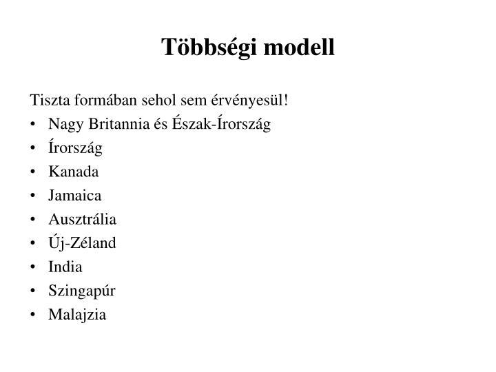 Többségi modell