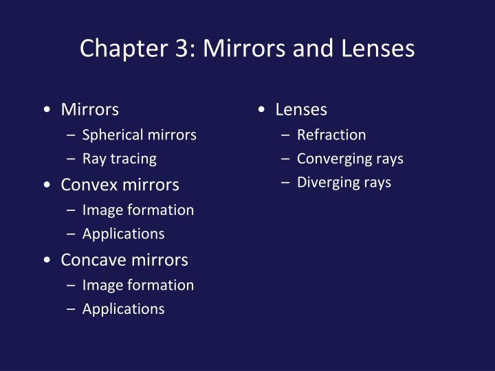 Chapter 3 mirrors and lenses1