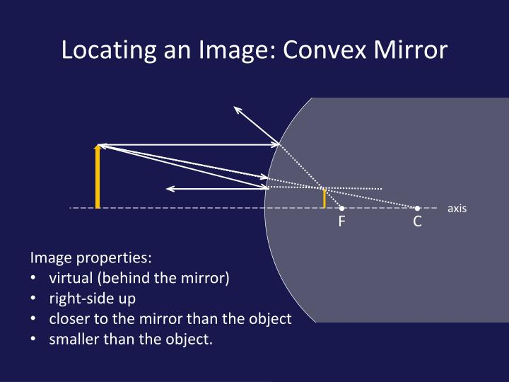 Locating an Image: Convex Mirror