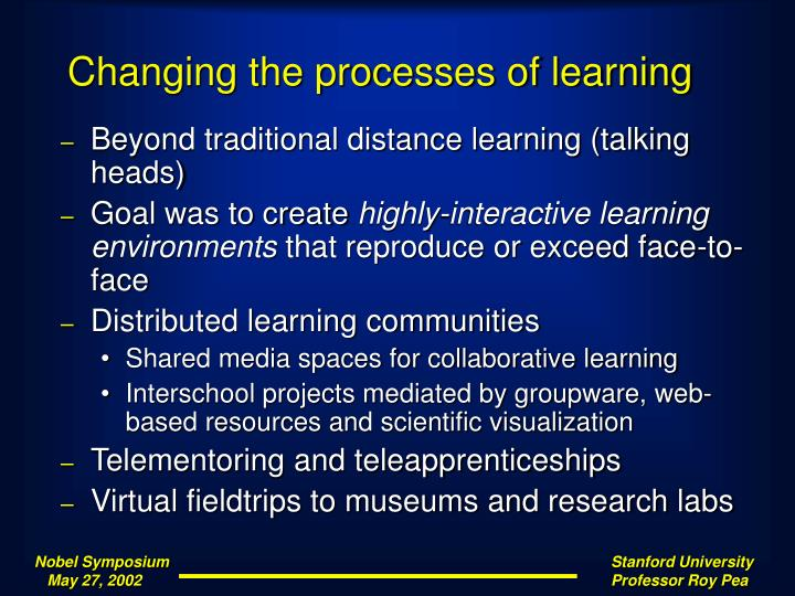 Changing the processes of learning
