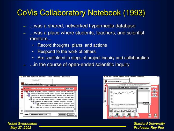 CoVis Collaboratory Notebook (1993)