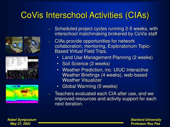 CoVis Interschool Activities (CIAs)