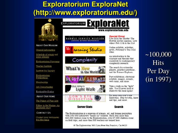 Exploratorium ExploraNet