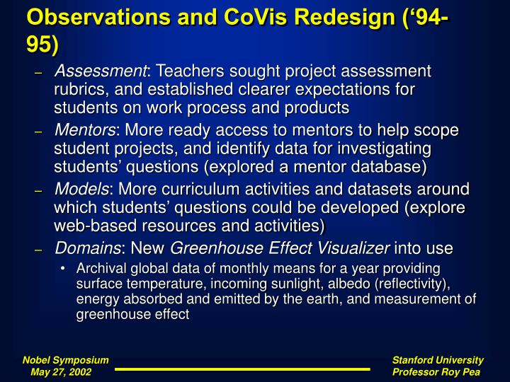 Observations and CoVis Redesign ('94-95)