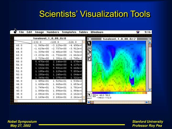 Scientists' Visualization Tools