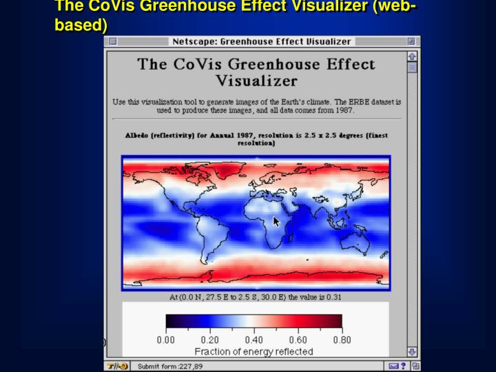 The CoVis Greenhouse Effect Visualizer (web-based)