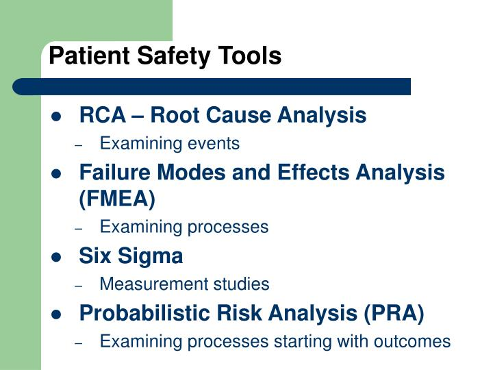 Patient Safety Tools