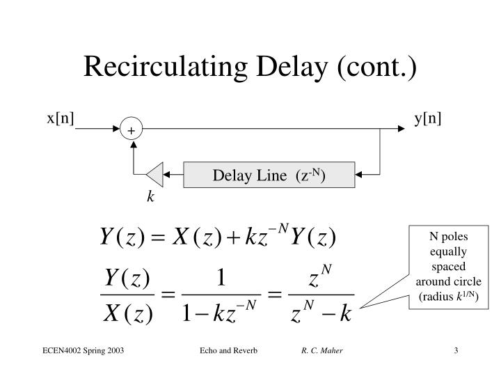 Recirculating delay cont