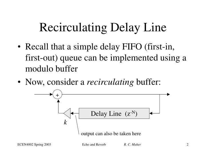 Recirculating delay line