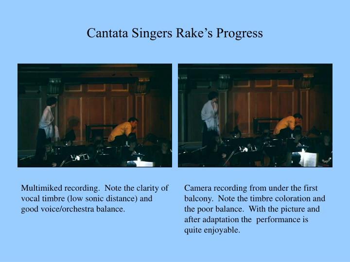 Cantata Singers Rake's Progress