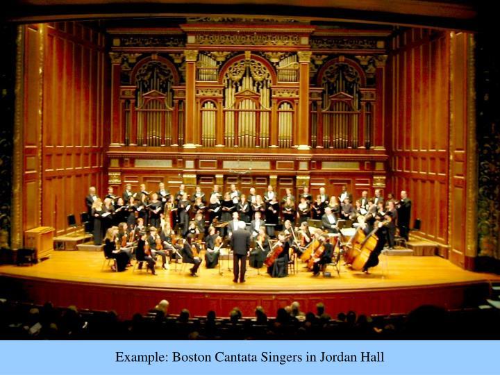 Example: Boston Cantata Singers in Jordan Hall