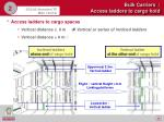 bulk carriers access ladders to cargo hold