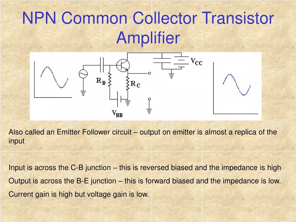 NPN Common Collector Transistor Amplifier