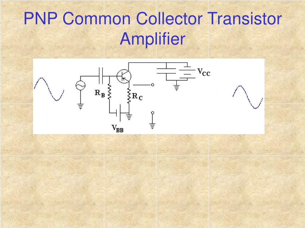PNP Common Collector Transistor Amplifier
