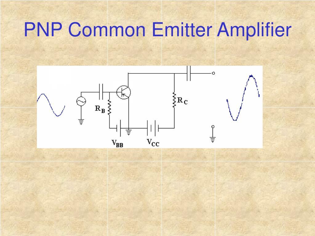 PNP Common Emitter Amplifier