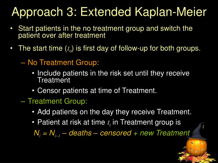 Approach 3: Extended Kaplan-Meier