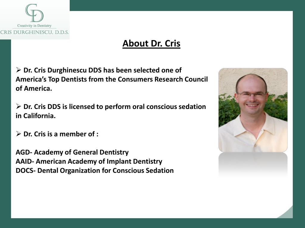 About Dr. Cris