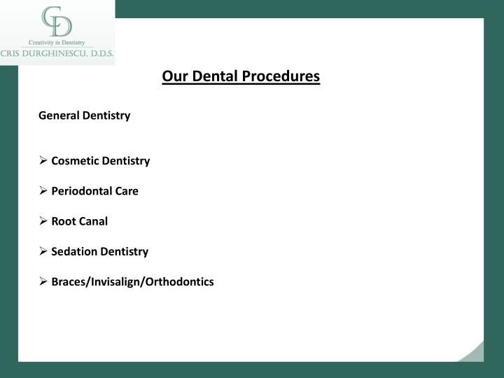 Our Dental Procedures