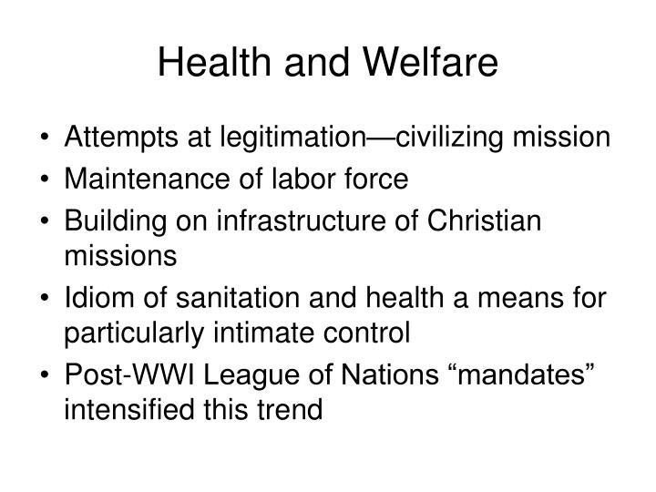 Health and Welfare
