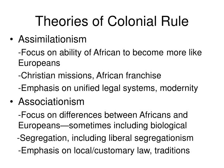 Theories of Colonial Rule