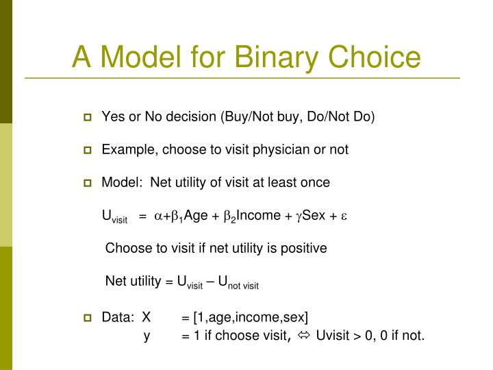 A Model for Binary Choice