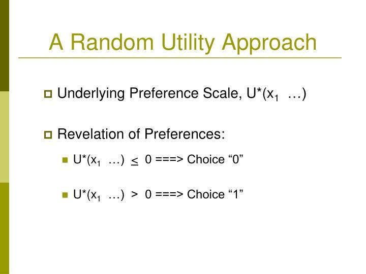 A Random Utility Approach