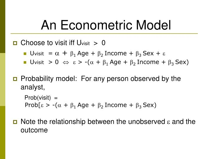 An Econometric Model