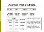 average partial effects1