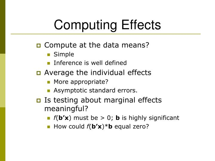 Computing Effects