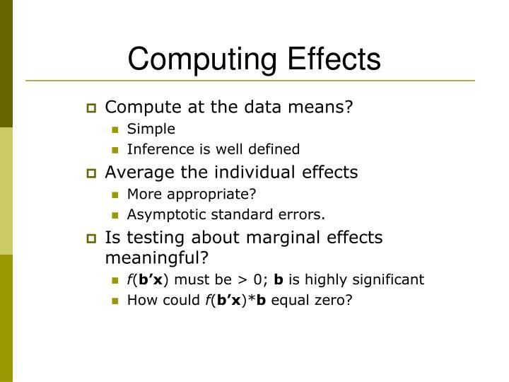 Computing Effects