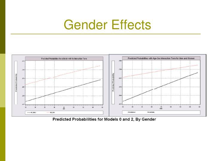 Gender Effects