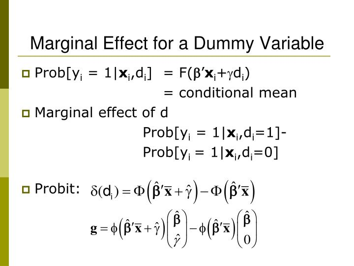 Marginal Effect for a Dummy Variable