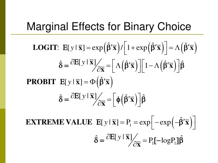Marginal Effects for Binary Choice